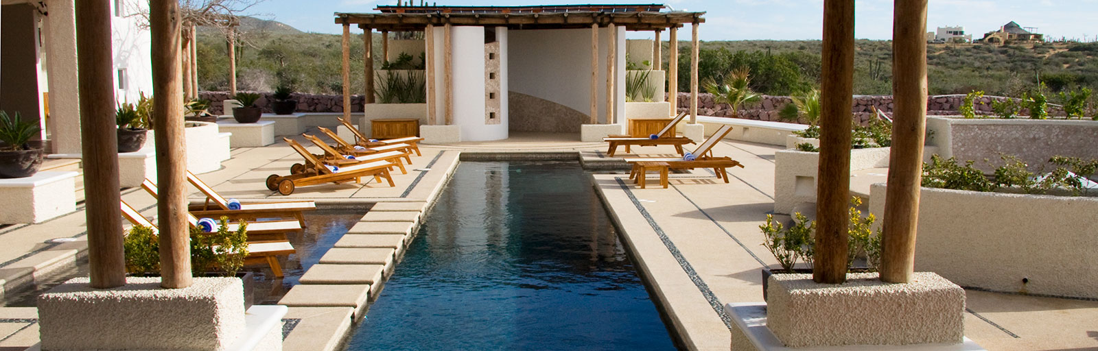 Mexico Yoga Retreat Center in Baja: Swimming Pool & Hot Tub