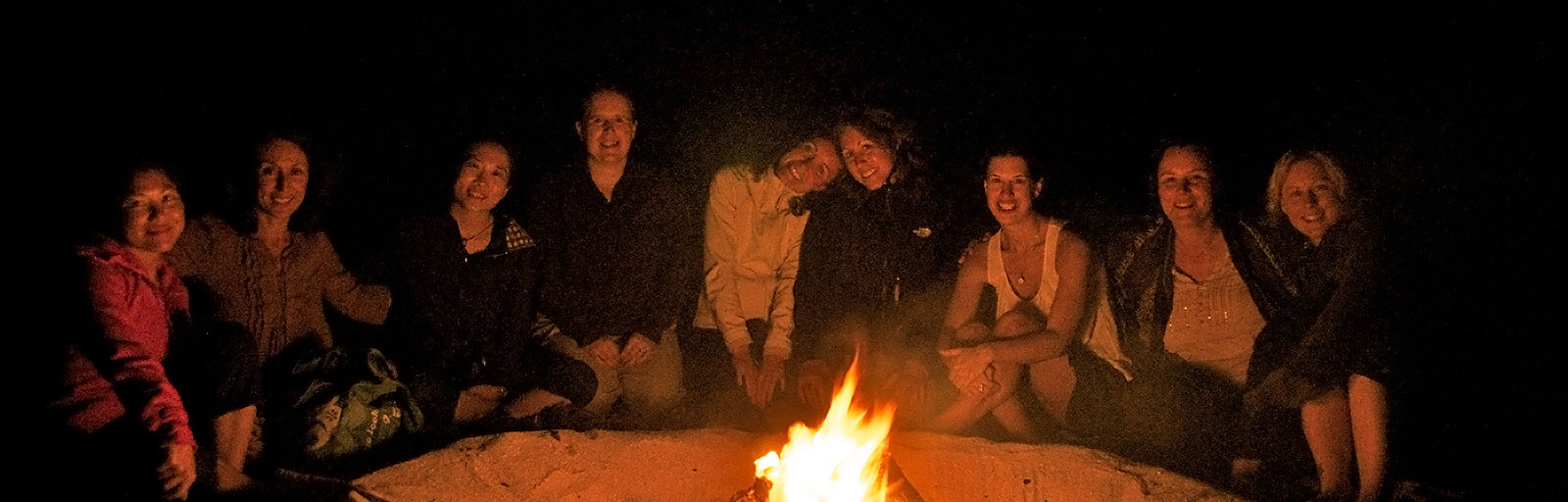 Mexico Yoga Retreats: Beach Bonfire