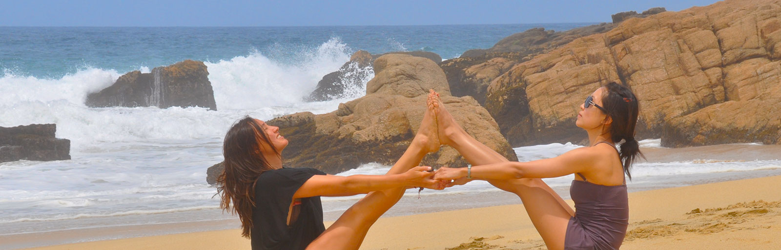 Yoga Retreat in Mexico: Partner Yoga on the Beach