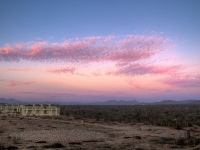 Guest Rooms & Labyrinth at Sunset - Mexico Yoga Retreats