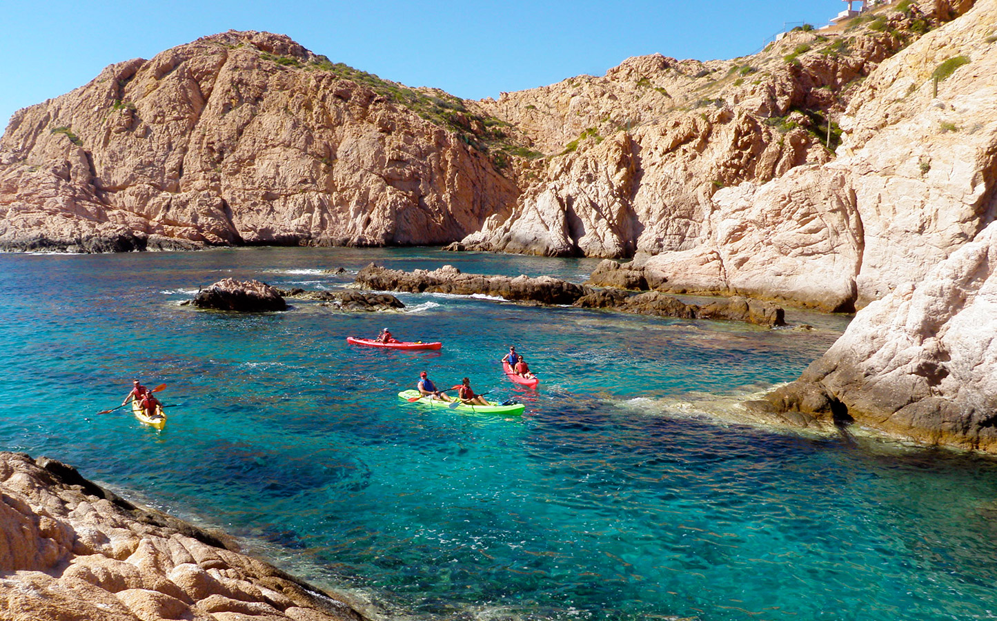 Sea Kayaking in a Cove in Baja - Yoga Retreat - Mexico