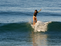 Surfer with Toes on the Nose - Yoga Retreat - Mexico