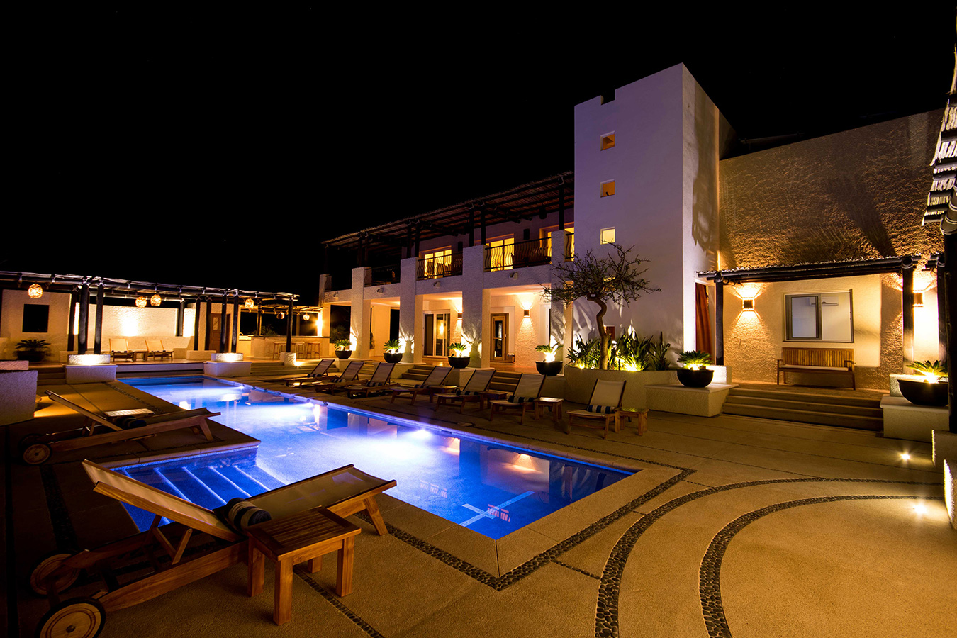 All Lit up at Night - Yoga Retreat - Mexico