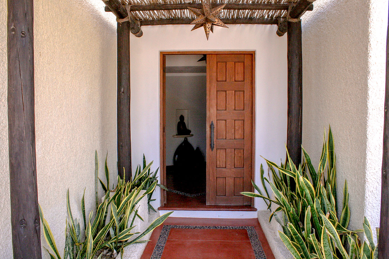 Entrance to our Community Building - Yoga Retreat - Mexico
