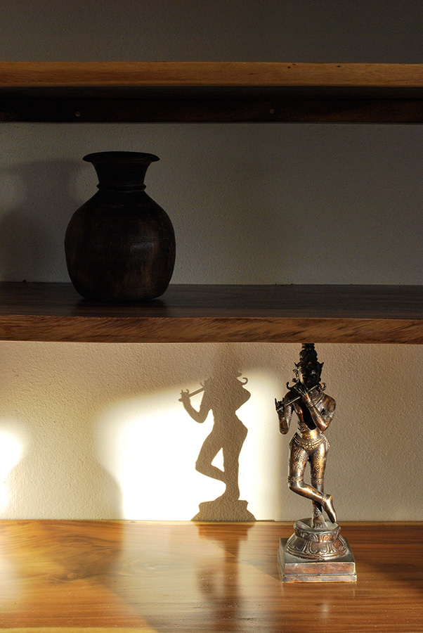 Krishna Statue with Shadow - Yoga Retreat - Mexico