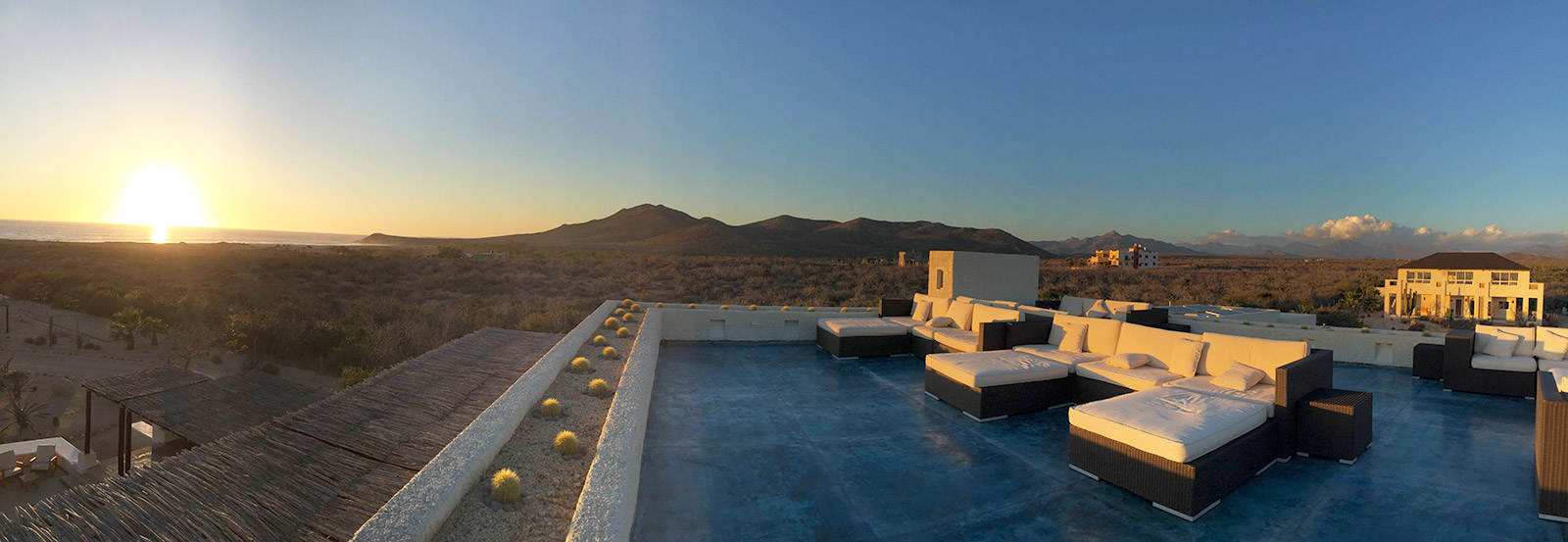 Roof Deck Sunset - Yoga Retreat - Mexico