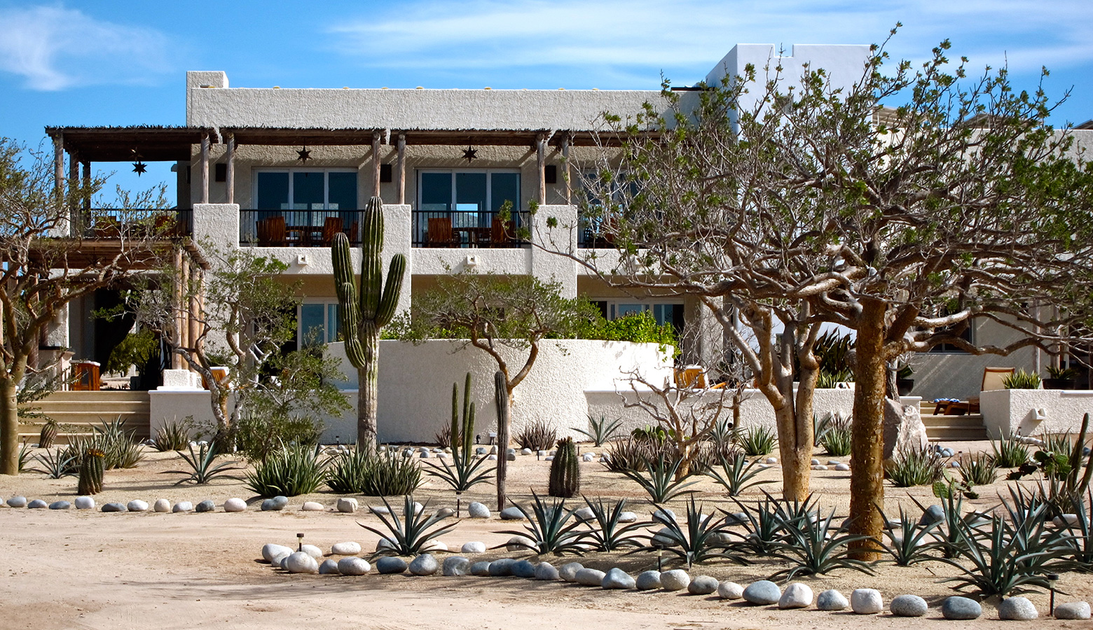 Desert Gardens surround our Community Building - Yoga Retreat - Mexico