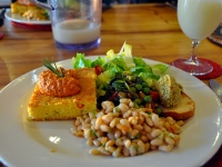 Polenta, White Beans & Almond Pate - Yoga Retreat - Mexico