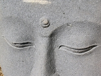 Buddha Visage Stone Sculpture - Yoga Retreat - Mexico