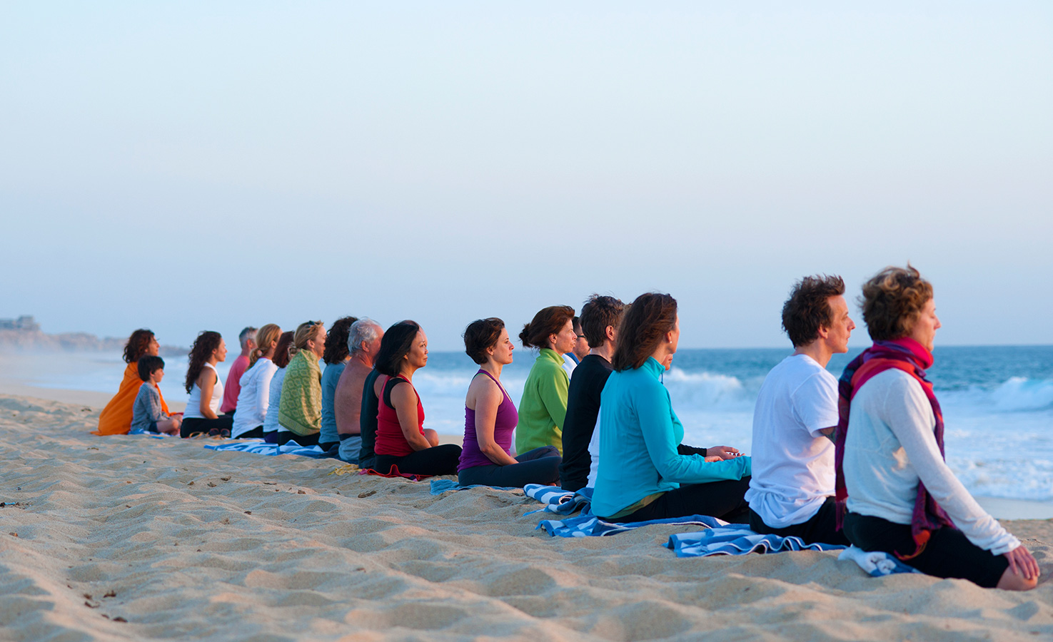 Meditation at the Beach - Yoga Retreat - Mexico