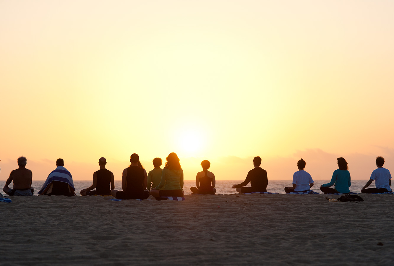 Sunset Meditation - Yoga Retreat - Mexico