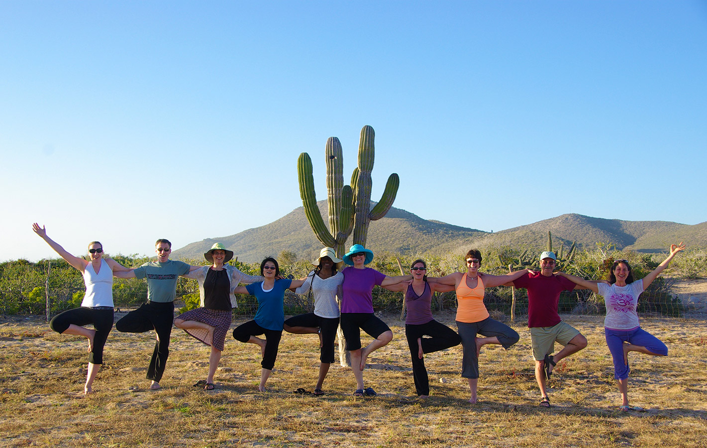 Tree Pose in the Desert - Yoga Retreat - Mexico