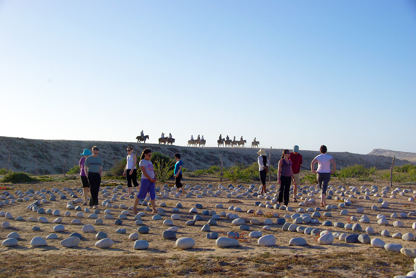 Walking the Labyrinth - Yoga Retreat - Mexico