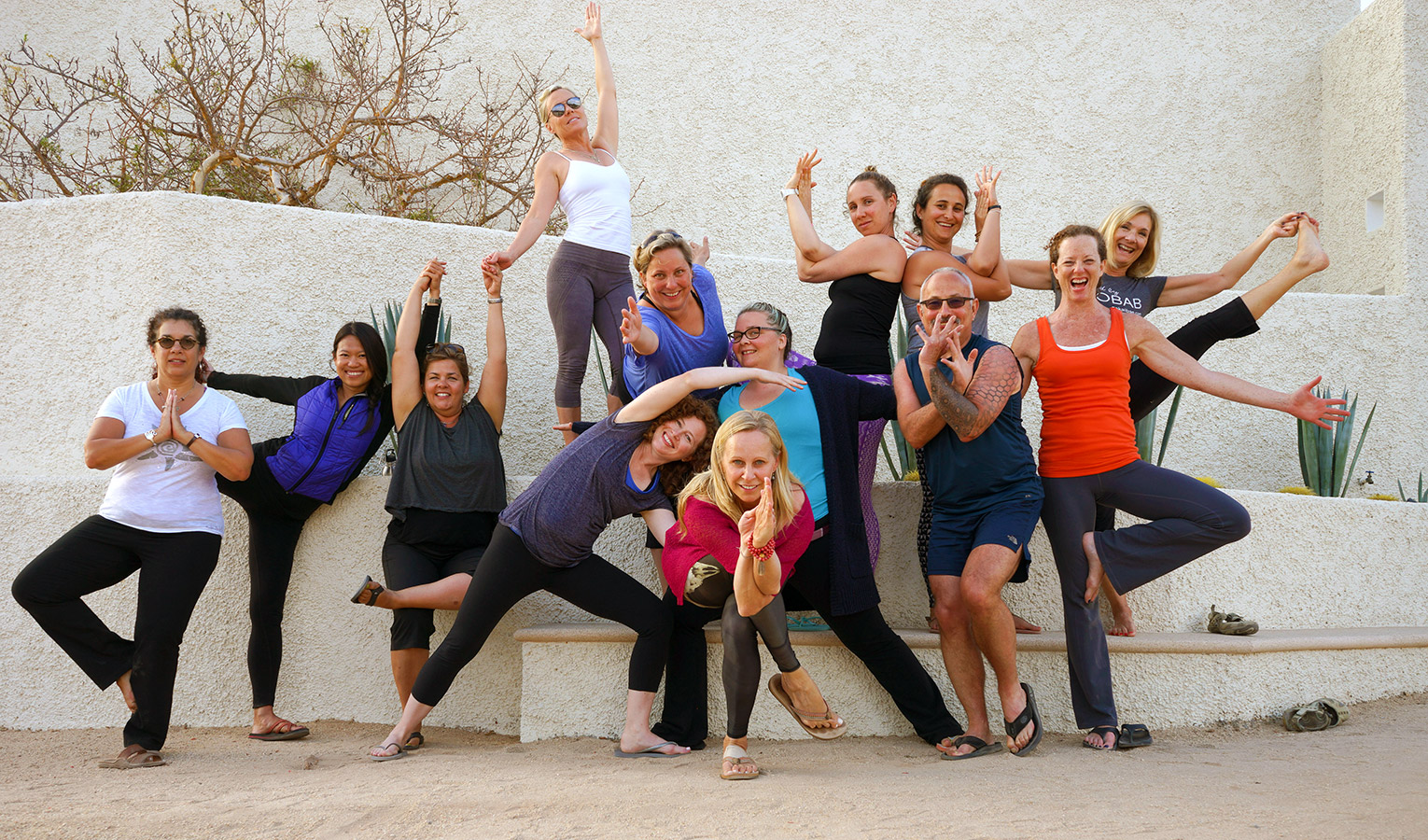 Posing Outside the Moon Studio - Yoga Retreat - Mexico