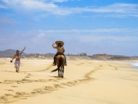 Waving to a Cowboy on the Beach - Yoga Retreat - Mexico