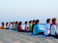 Meditation at the Beach - Yoga Retreat - Mexico