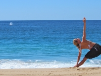 Triangle Pose w/ Whale Spout - Yoga Retreat - Mexico