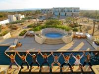Posing by the Pool - Yoga Retreat - Mexico