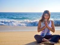 Heartfelt Prayer at the Beach - Yoga Retreat - Mexico
