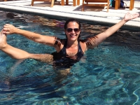 A Refreshing Dip in the Pool - Yoga Retreat - Mexico