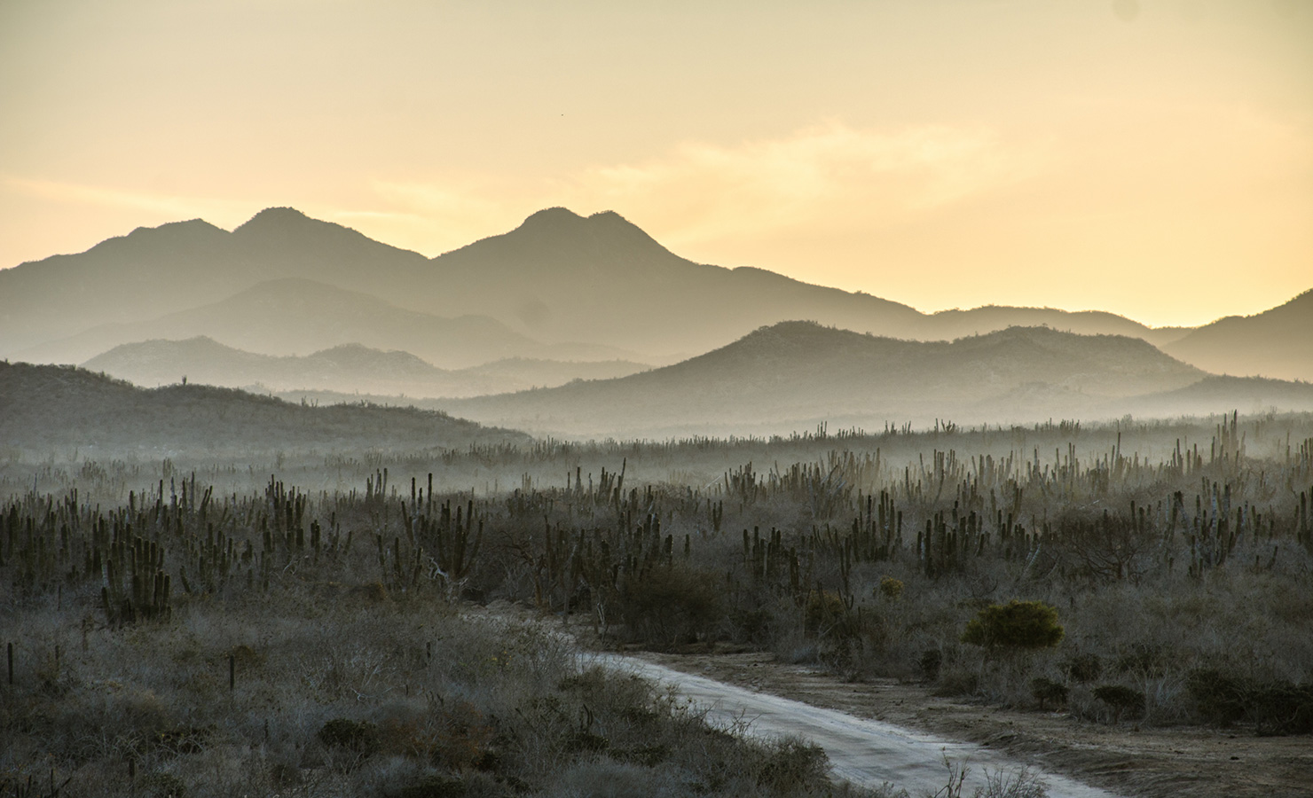 Sunrise Behind the Eastern Mountains - Yoga Retreat - Mexico