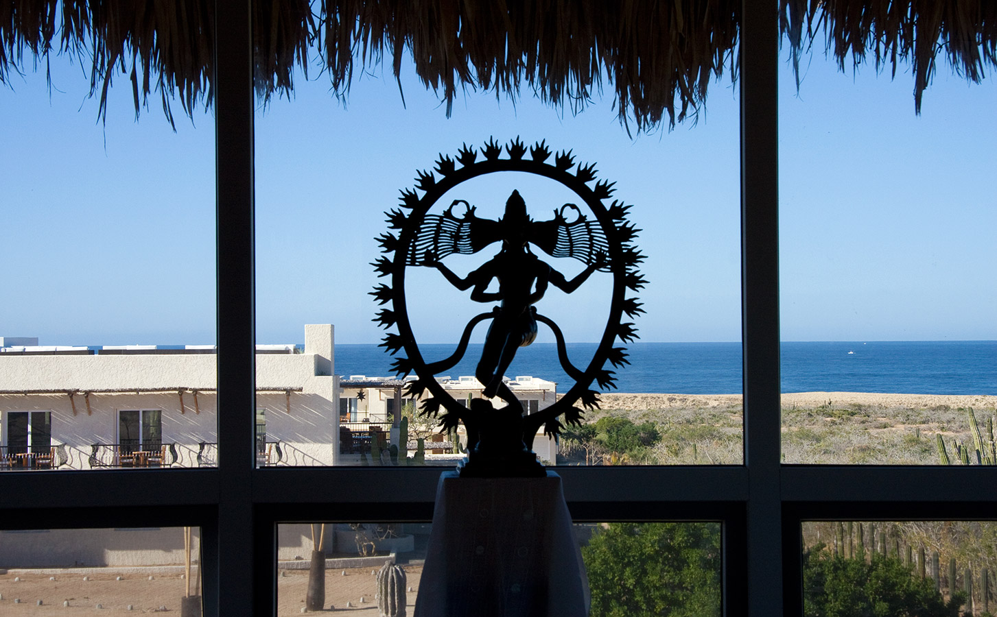 Nataraja Sculpture with Ocean - Yoga Retreat - Mexico