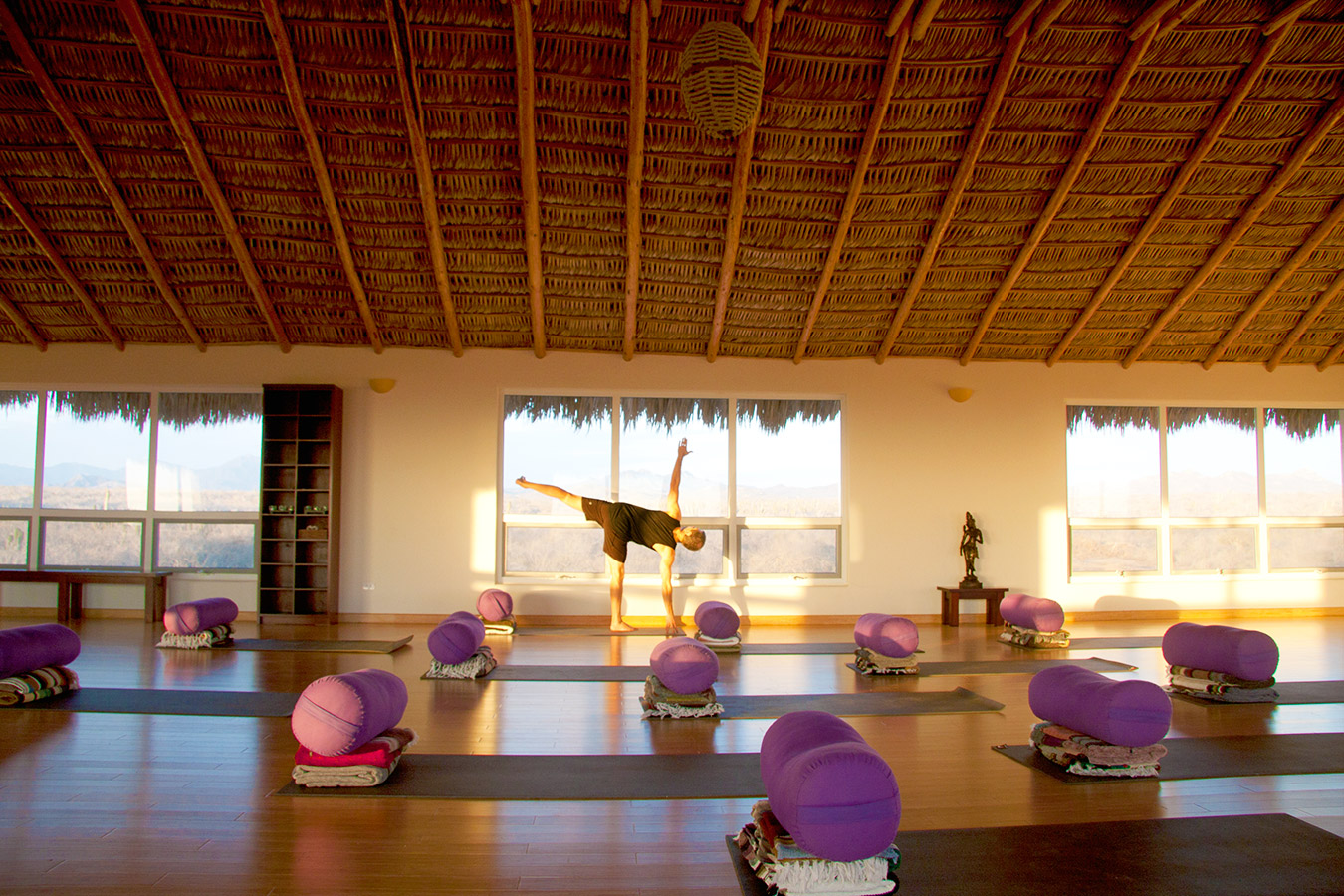 Half Moon Pose - Yoga Retreat - Mexico