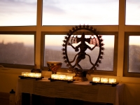 Nataraja with Candles - Yoga Retreat - Mexico