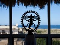Nataraja Sculpture with Ocean - Yoga Retreat - Mexico