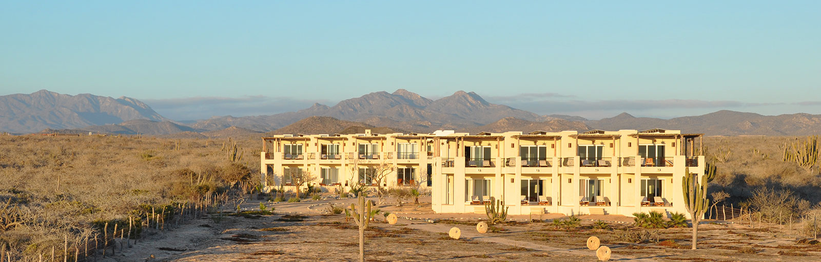 Mexico Yoga Retreat Center in Baja: Guest Rooms and Mountains