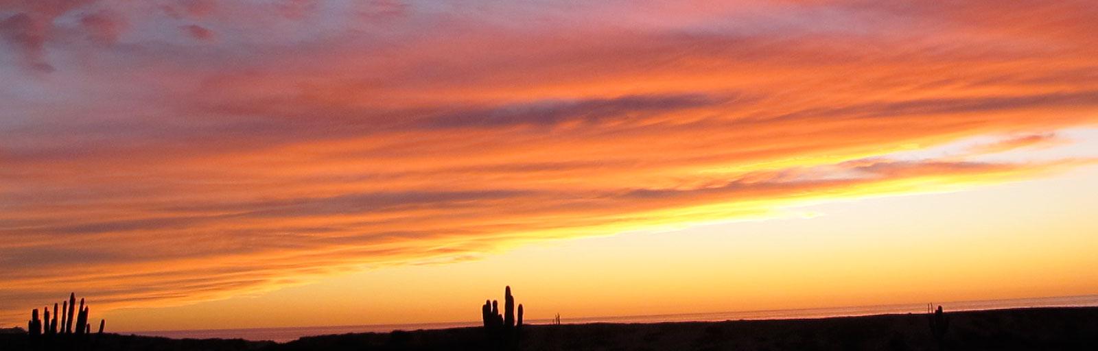 Wellness & Yoga Retreats in Baja, Mexico: Sunset Lights up the Evening Sky