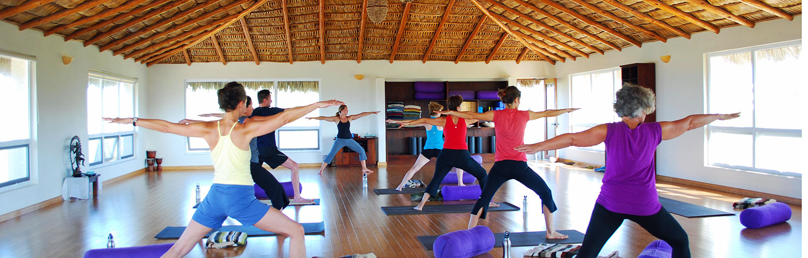 Mexico Yoga Retreat Center in Baja: Yoga Class in the Sun Studio